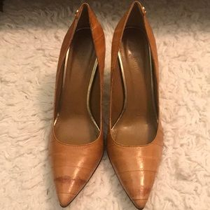 Used Tan Leather Shoes